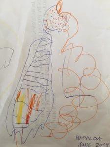 Was wird ihr zukünftiges Ich von diesem Selbstportrait im alter von vier Jahren halten