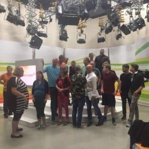 Fernsehteam des ERF - 20 Leute sorgten dafür, dass es kein Problem gab