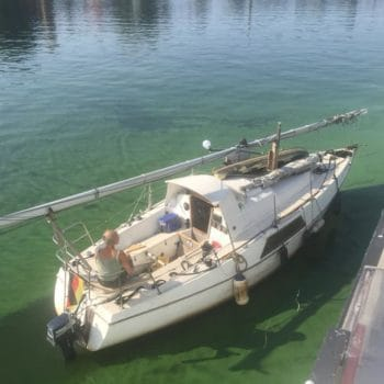 Helges Segelboot - als es noch ganz war