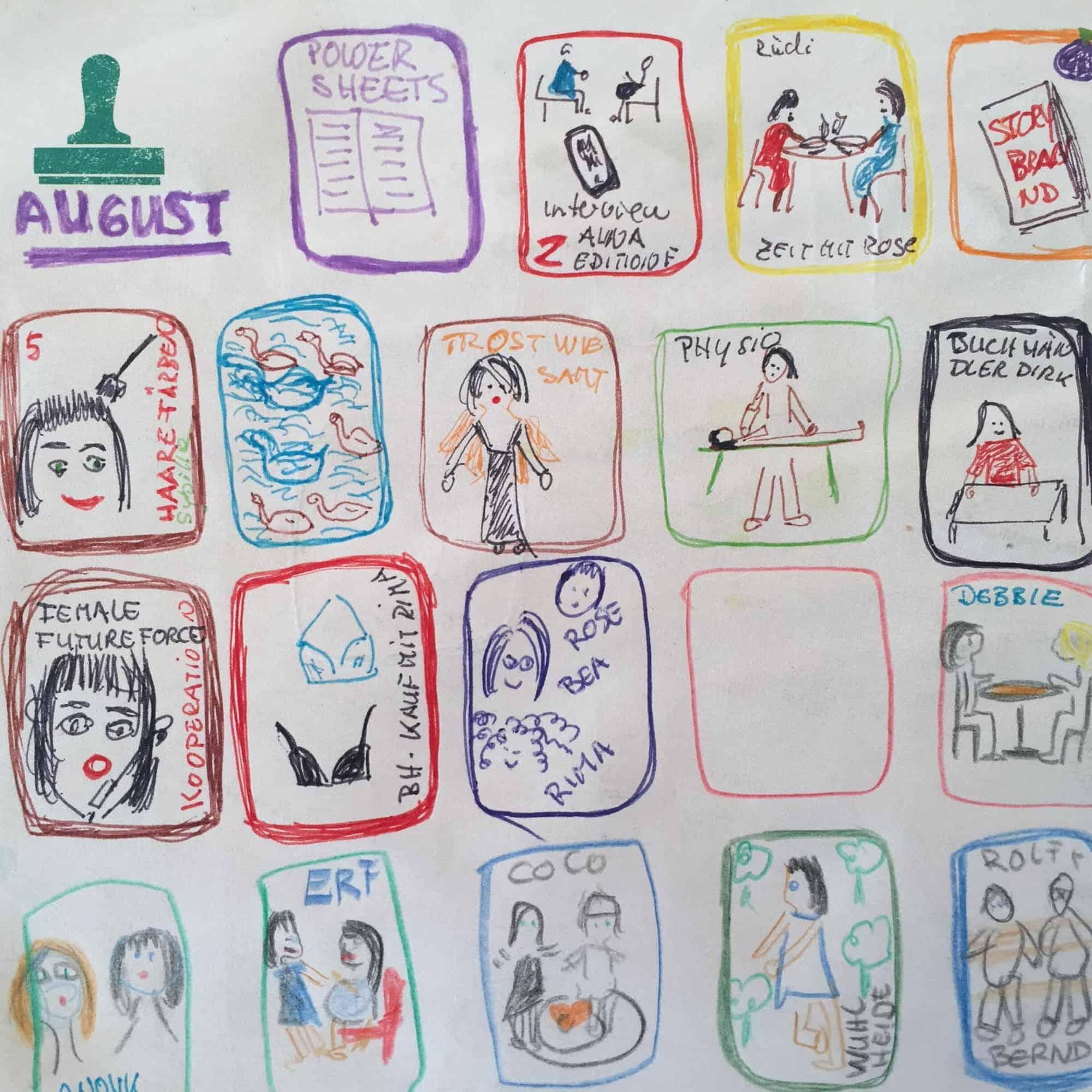 Dankbarkeits-Tagebuch von Kerstin Hack: Gezeichneter Dank