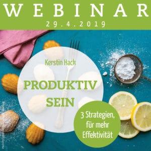 Webinar mit Kerstin Hack: Produktiv sein