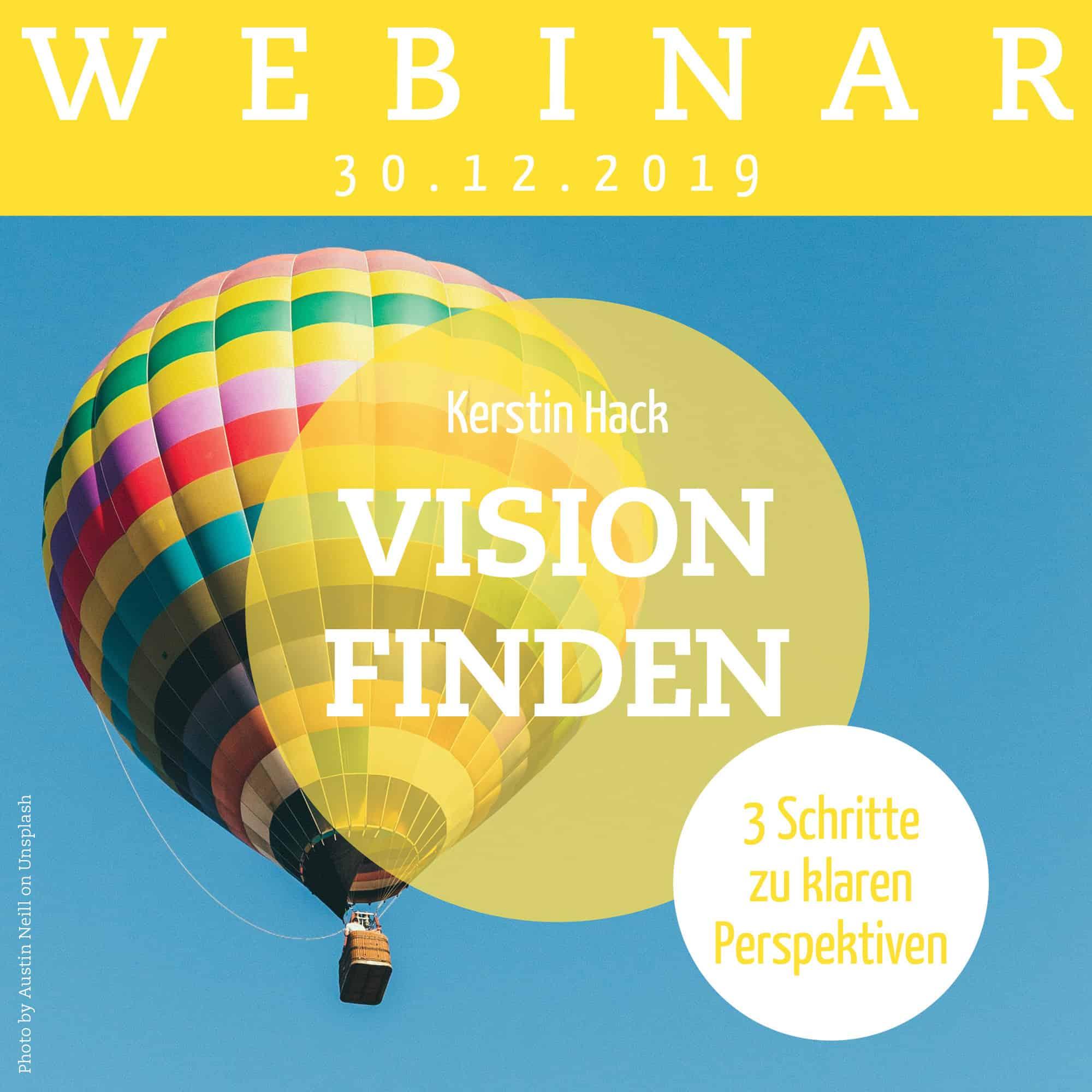 Webinar mir Coach Kerstin Hack: Vision finden. Am 18.12.