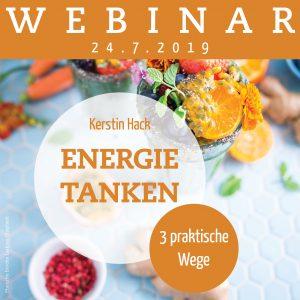 Webinar mit Coach Kerstin Hack: Energie tanken.3 praktische Wege