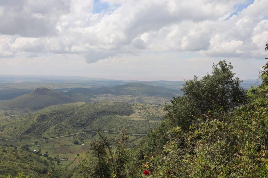 Mit FMNR aufgeforstete Hügel in der Humbo-Provinz, Äthiopien